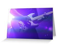 Purple Guitarist  Greeting Card