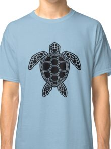 Green Sea Turtle Design - Black Classic T-Shirt