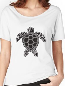 Green Sea Turtle Design - Black Women's Relaxed Fit T-Shirt