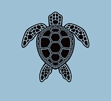 Green Sea Turtle Design - Black Unisex T-Shirt