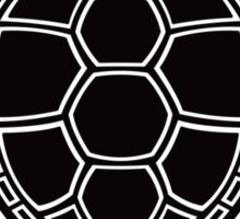 Green Sea Turtle Design - Black Sticker