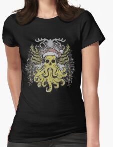 Merry Cthulhumas! Womens Fitted T-Shirt