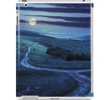 path through highland meadows at night iPad Case/Skin