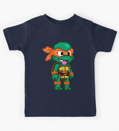 Michelangelo is a Party Dude Kids Tee