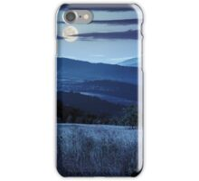 path on hillside meadow in mountain at night iPhone Case/Skin