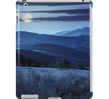 path on hillside meadow in mountain at night iPad Case/Skin