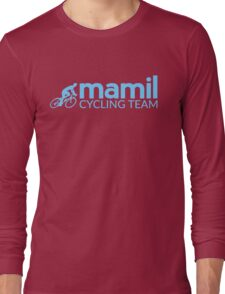 Middle aged men in lycra cycling team Long Sleeve T-Shirt