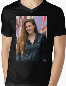 Portrait of a young woman Mens V-Neck T-Shirt
