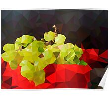 Bodegon, Green Apples Painting - Crystallized Art Effect Poster
