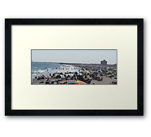 Hot Humid Day at the Beach Framed Print