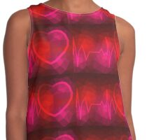 Cardiology Heart Pulse - Crystallized Art Effect Contrast Tank
