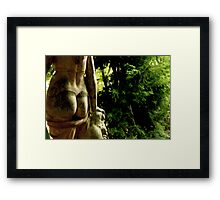 Nude with Greenery Framed Print