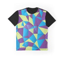 Blue, Purple, Cream Green Shapes - Crystallized Art Effect Graphic T-Shirt