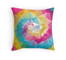 Rainbow Spiral - Crystallized Art Effect Throw Pillow