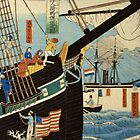 TIR-FA - Japan Print - Western traders at Yokohama transporting merchandise by imageresource