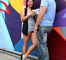 Couple Talking by Henrik Lehnerer