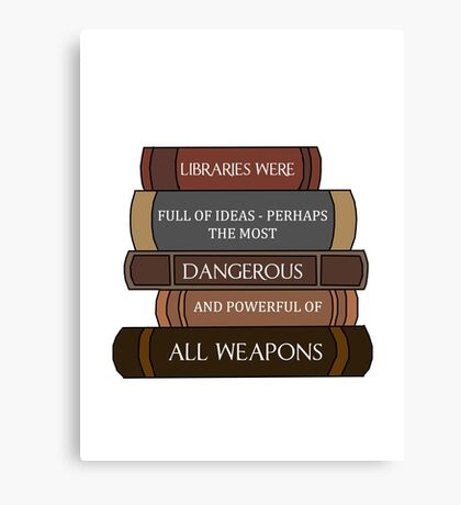 Libraries were full of ideas... Canvas Print