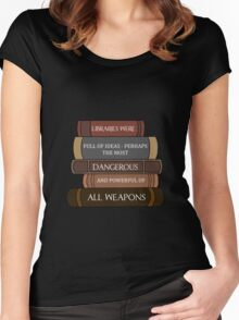 Libraries were full of ideas... Women's Fitted Scoop T-Shirt