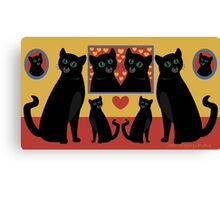 CATS AND FAMILY PICTURES Canvas Print