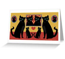 CATS AND FAMILY PICTURES Greeting Card