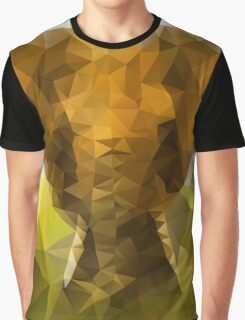African Elephant - Crystallized Art Effect Graphic T-Shirt