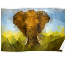 African Elephant - Crystallized Art Effect Poster
