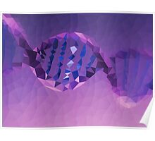 Genes, Genetics - Crystallized Art Effect Poster