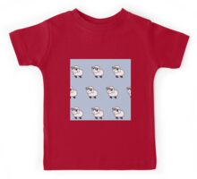 Cool sheep in sunglasses,baby blue background,kid,kids,cute,sheets,sheep,sunglasses, Kids Tee