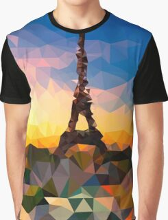 Paris Eiffel Tower, France - Crystallized Art Effect Graphic T-Shirt