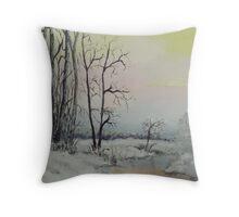 Serene Winter Scene Throw Pillow