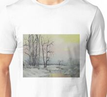 Serene Winter Scene Unisex T-Shirt