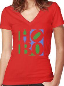 HOBO - Art (alternate) Women's Fitted V-Neck T-Shirt