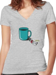 Flight of the Conchords: Cup! Women's Fitted V-Neck T-Shirt