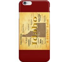 Aged Idaho State Pride Map iPhone Case/Skin