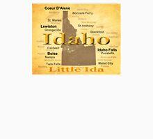 Aged Idaho State Pride Map Unisex T-Shirt