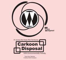 Carkoon Disposal (black) Kids Tee