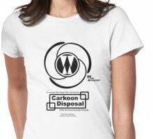 Carkoon Disposal (black) Womens Fitted T-Shirt