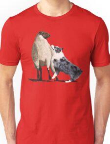 "Australian Shepherd ~ ""One Tough Sheepdog"" painting Unisex T-Shirt"
