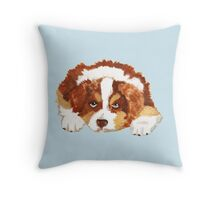 Red Tri Australian Shepherd Puppy Throw Pillow