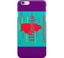 Colorful Illinois State Pride Map iPhone Case/Skin