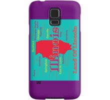 Colorful Illinois State Pride Map Samsung Galaxy Case/Skin