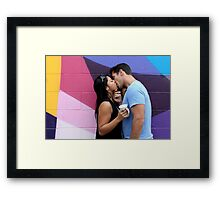 Kissing Framed Print