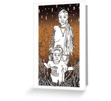 3 Generations of Tohono O'odham - A Tucson Portrait Story Greeting Card