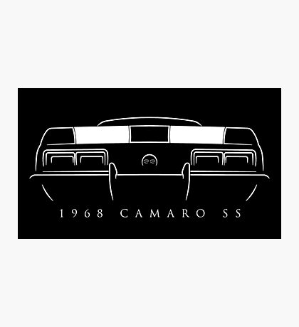 1968 Chevy Camaro SS rear - Stencil Photographic Print