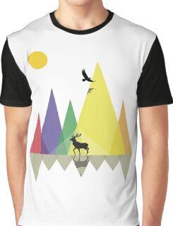 Wild Mountains Landscape Geometric  Graphic T-Shirt