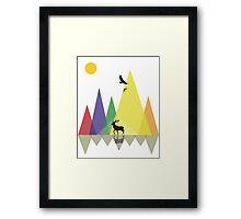 Wild Mountains Landscape Geometric  Framed Print