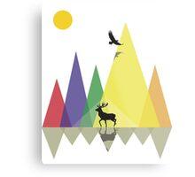 Wild Mountains Landscape Geometric  Metal Print