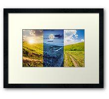 path through highland meadows Framed Print