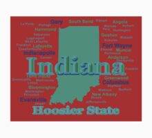 Colorful Indiana State Pride Map Kids Clothes