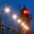 South Haven Michigan Light and Catw by Kenneth Keifer